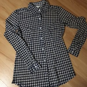 CAbi button up blouse XS